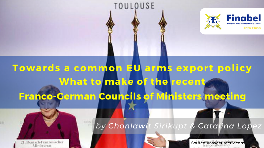 Towards a common EU arms export policy: What to make of the recent Franco-German Councils of Ministers meeting