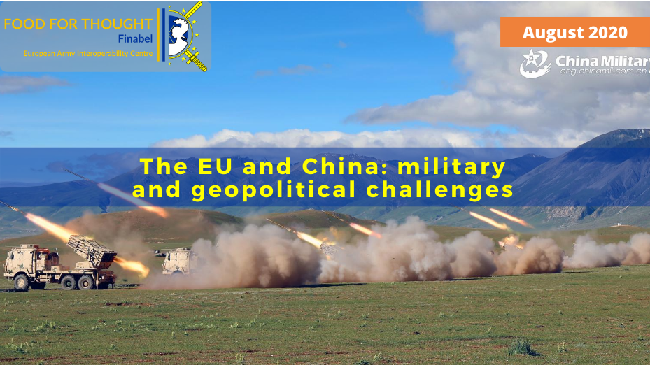 The EU and China: military and geopolitical challenges
