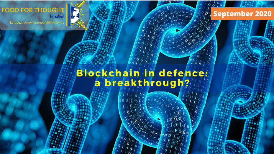 Blockchain in defence: a breakthrough?
